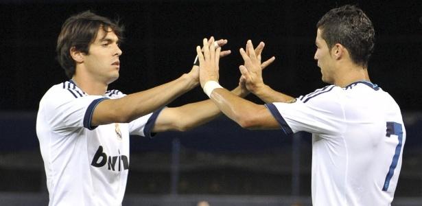 Kaká tem feito atividades sozinho pela manhã, treinando à tarde com o elenco do Real - JASON SZENES/EFE