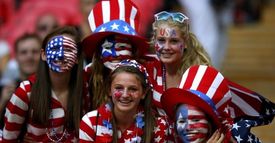 Norte-americanas apostaram no patriotismo no visual