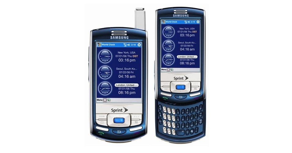 Smartphone Samsung i830 foi lançado em 2006 e não tinha conexão Wi-Fi