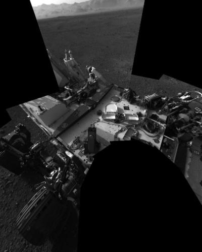 10.ago.2012 - Autorretrato do robô Curiosity em Marte