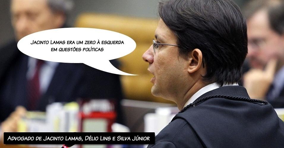 """10.ago.2012 - """"Jacinto Lamas era um zero à esquerda em questões políticas"""", afirmou o advogado de Jacinto Lamas, Délio Lins e Silva Júnior, ao alegar que ele não sabia do esquema"""