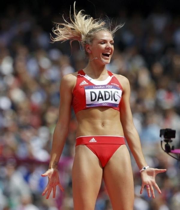 Outra que chamou a atenção no estádio olímpico foi a austríaca Ivona Dadic, do heptatlo, dona de corpo e rosto lindos
