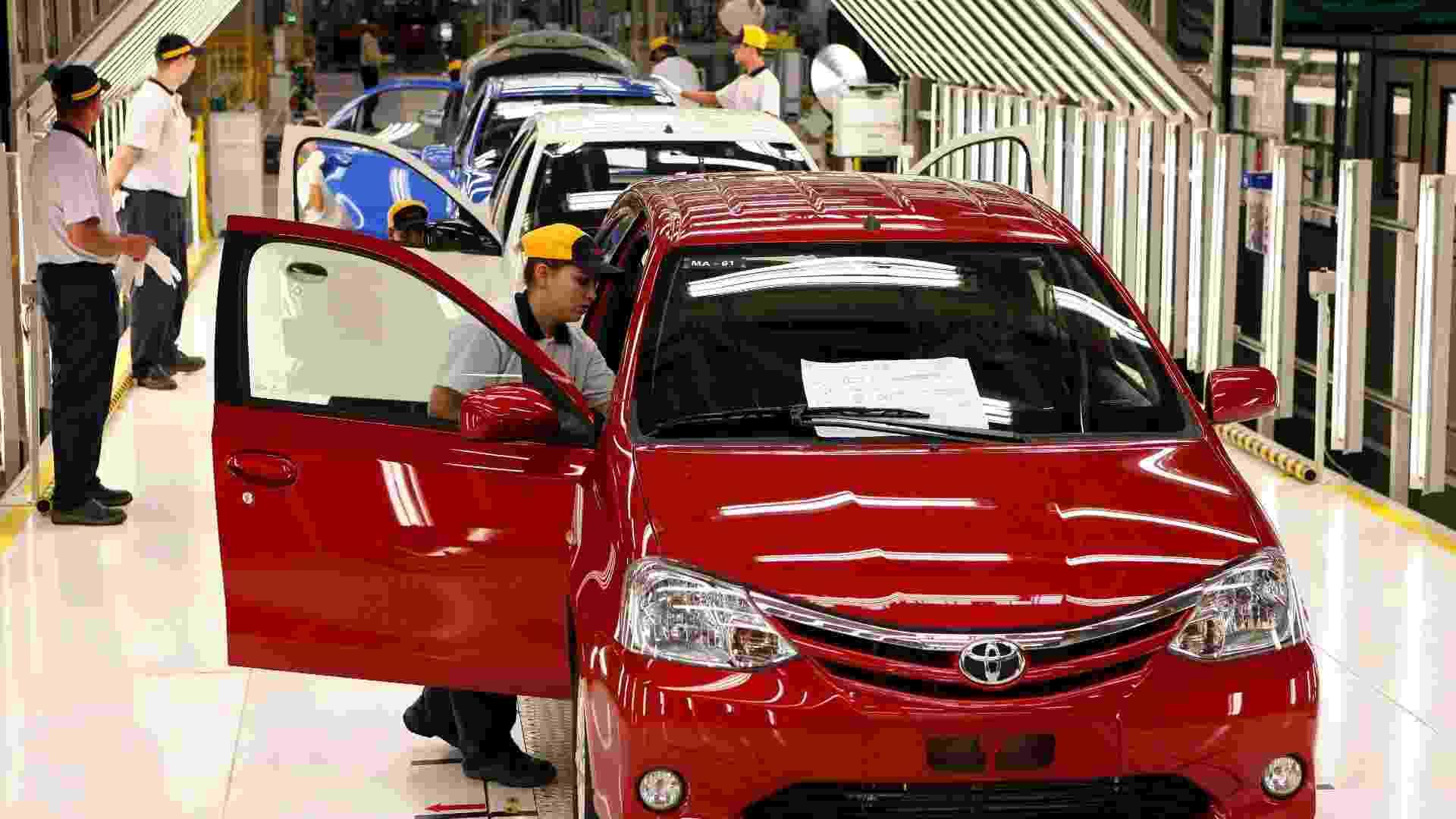 A Toyota começou a produzir nesta quinta-feira (9), na nova fábrica da marca em Sorocaba (SP), o Etios, popular com variações hatch e sedã - Reuters
