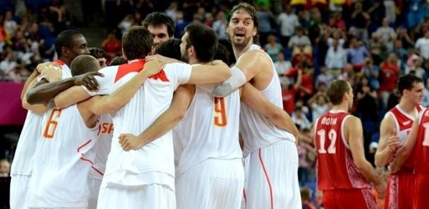 Seleção espanhola de basquete destruiu alojamentos na Vila Olímpica, revela comitê - AFP PHOTO /MARK RALSTON