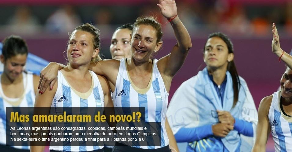 As Leonas argentinas são consagradas, copiadas, campeãs mundiais e bonitonas, mas jamais ganharam uma medalha de ouro em Jogos Olímpicos. Na final de sexta-feira, o time argentino perdeu a final para a Holanda por 2 a 0