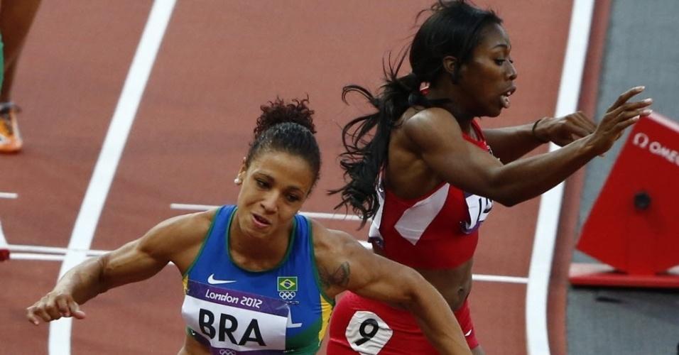 Brasileira Jailma de Lima foi a segunda brasileira a correr na prova dos 4 x 400 m rasos (10/08/2012)