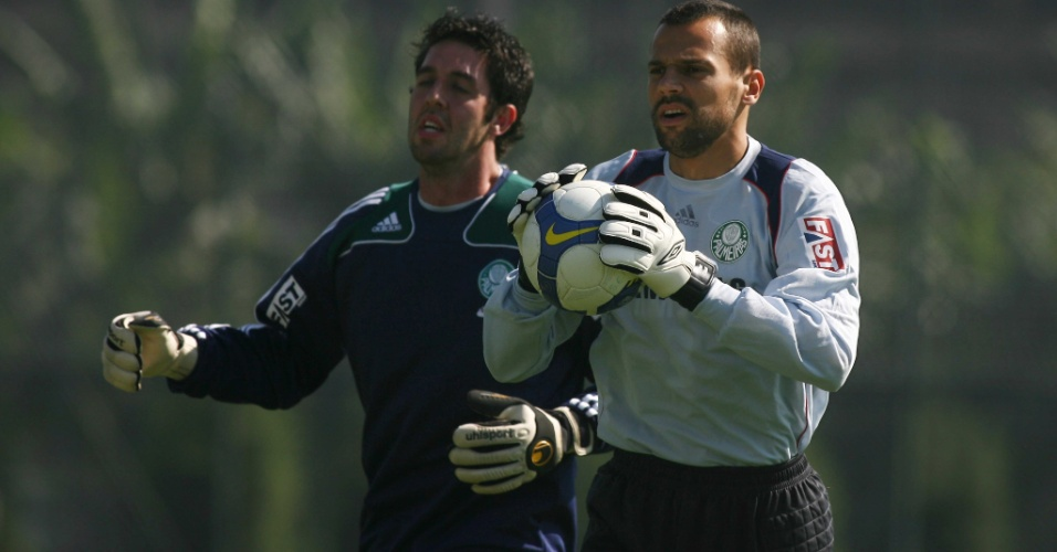 Bruno e Diego Cavalieri treinam juntos no Palmeiras