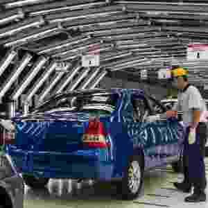 """De acordo com a Toyota, """"o Etios também será o modelo responsável por rejuvenescer o público da marca""""; o carro causou boa impressão em SP - AFP"""