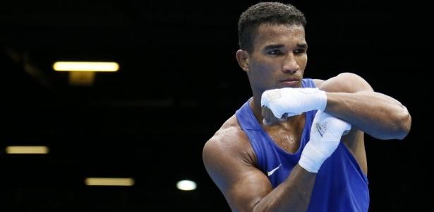 Esquiva Falcão faz seu tradicional gesto de comemoração nos Jogos Olímpicos de Londres