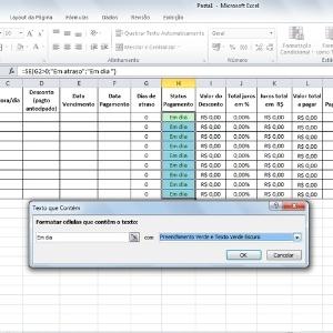 Fotos: Planilha para controlar pagamentos no Excel dá alerta