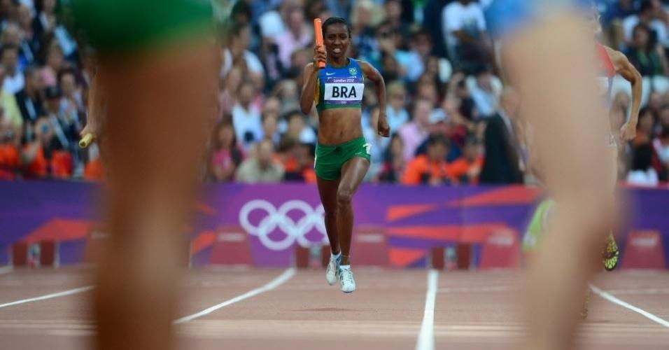 Joelma Sousa foi uma das representantes do Brasil na prova dos 4 x 400 m rasos (10/08/2012)