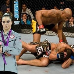 McKayla Maroney não está impressionada com Anderson Silva soltando o braço