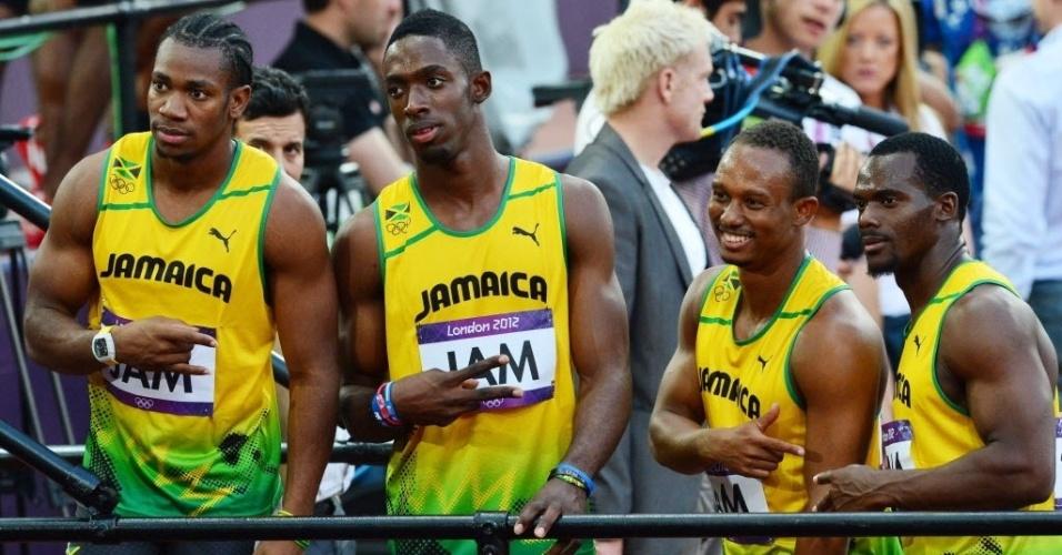 Mesmo sem Usain Bolt, poupado, os jamaicanos se classificaram para a final do revezamento 4 x 100 rasos na segunda colocação