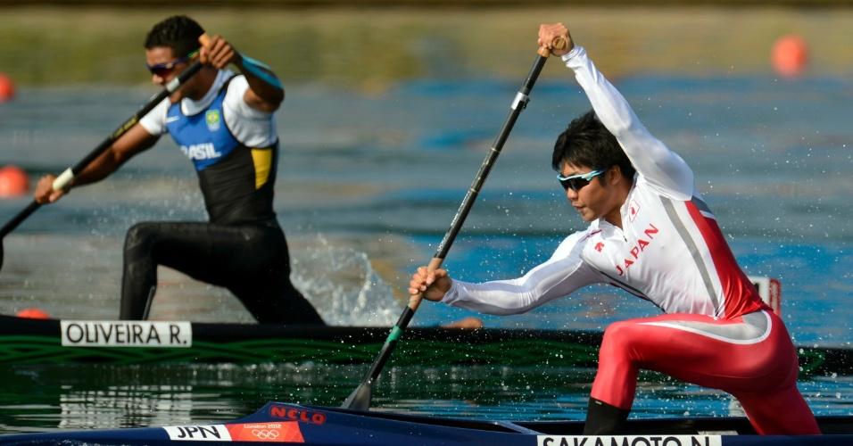 Ronilson Oliveira disputa eliminatória da canoagem de velocidade individual. Brasileiro foi para a semifinal