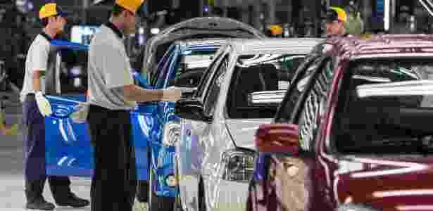 Fábrica da Toyota em Sorocaba (SP): regime apoia empresas que priorizam produção nacional - AFP