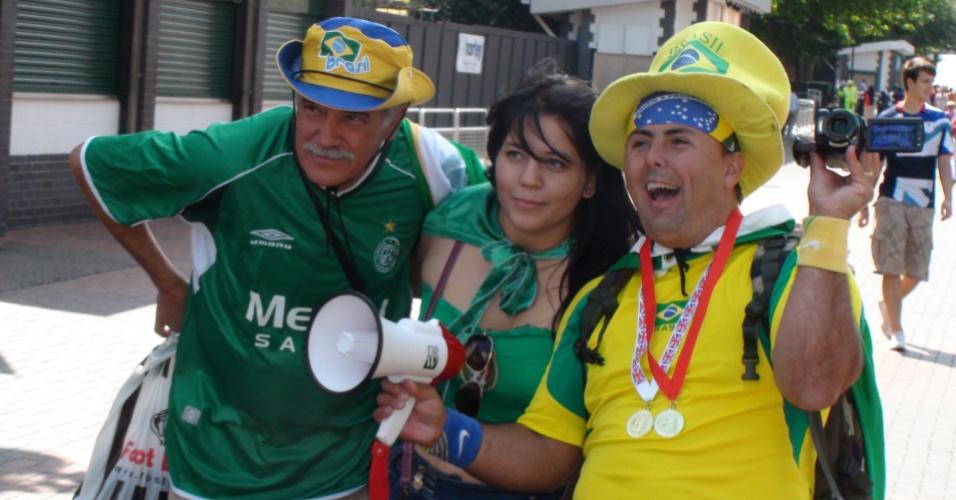 Brasileiros já ocupam redondezas do estádio de Wembley para final olímpica entre Brasil e México