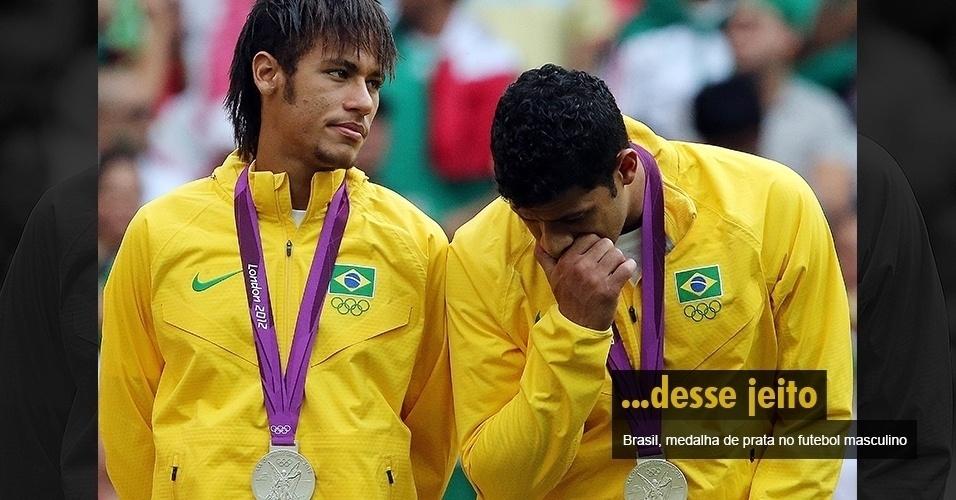 ...desse jeito - Brasil, medalha de prata no futebol masculino