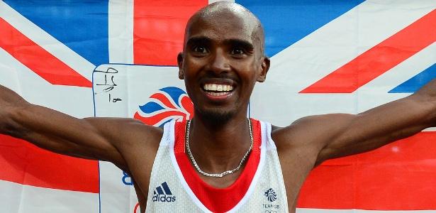 Mo Farah, atleta do Reino Unido, foi detido nos EUA por ter nascido na Somália - FRANCK FIFE/AFP