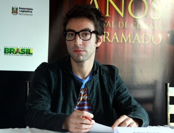 """Rodrigo Pandolfo fala sobre seu primeiro filme, """"Eu Não Faço a Menor Ideia do Que Eu Tô Fazendo Com a Minha Vida"""", em Gramado (11/8/12)"""
