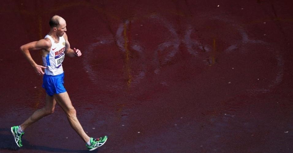 O russo Sergey Kirdyapkin venceu os 50 km da marcha atlética neste sábado