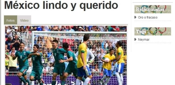 Periódico Olé ironiza derrota da seleção brasileira para o México na final dos Jogos Olímpicos de Londres