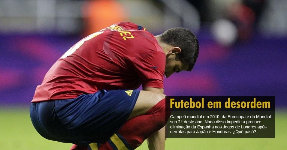 Campeã mundial em 2001, da Eurocopa e do Mundial sub 21 deste ano. Nada disso impediu a precoce eliminação da Espanha nos Jogos de Londres após derrotas para Japão e Honduras