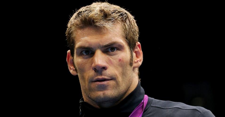 Clemente Russo, pugilista italiano medalhista de prata na categoria de mais de 90 quilos em Londres