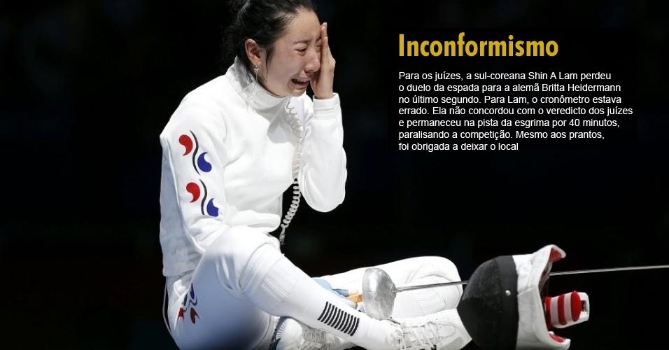 Esgrimista sul-coreana se revolta por ter sido eliminada dos Jogos Olímpícos