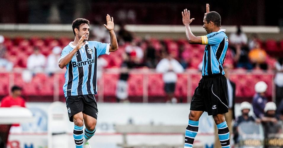 Grêmio marcou o gol de empate contra o São Paulo aos 21 minutos do segundo tempo. Marquinhos cobrou escanteio na primeira trave, Werley desvou de cabeça e Rogério Ceni não conseguiu fazer a defesa