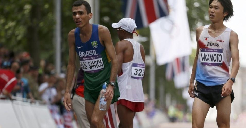 Marílson dos Santos terminou na quinta colocação na maratona em Londres e disse que foi a prova que mais sofreu na carreira
