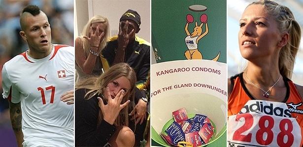 Morganella, Bolt e as loiras, camisinhas australianas e Voula Papachristou