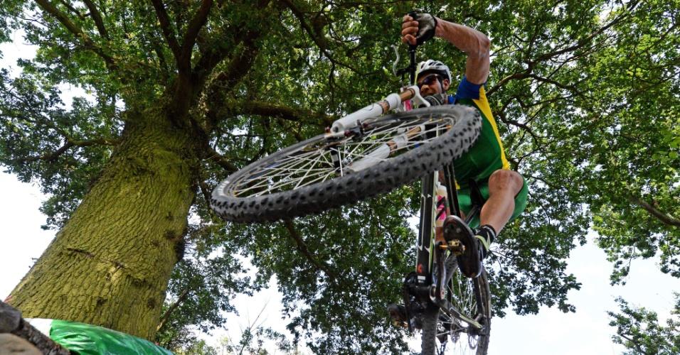 Rubens Valeriano terminou a prova de ciclismo cross country na 24ª posição