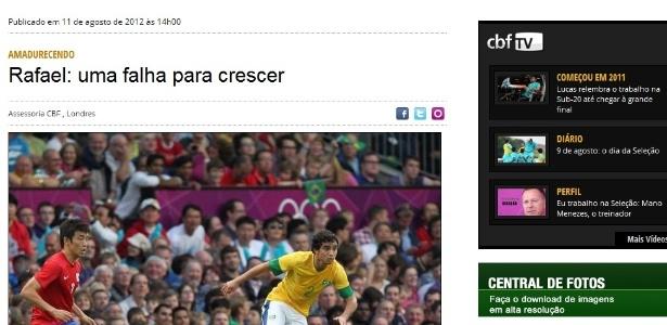 Site da CBF publica nota sobre a falha de Rafael no primeiro gol do México na final dos Jogos