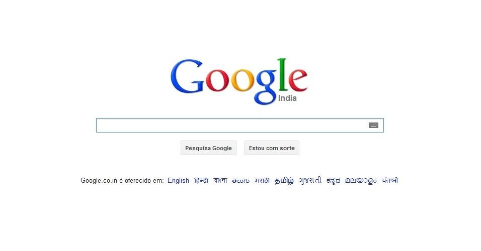 12º - Google India: O site mais popular na Índia é o buscador também mais popular no mundo. Do ano passado para cá, o Google Índia caiu uma posição no ranking, mas ainda detém 4,76% das visitas de internautas