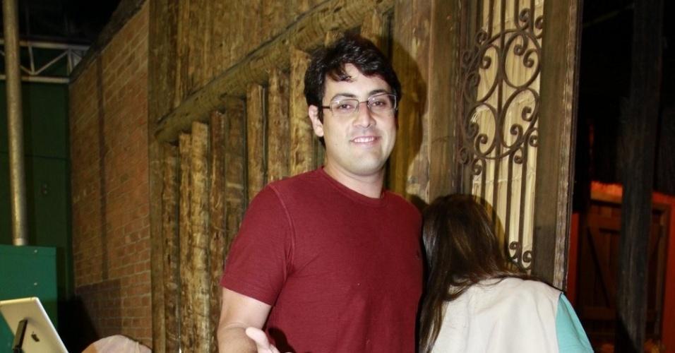 Bruno De Luca  prestigiou a festa de cinco anos de José, filho de Carolina Dieckmann (13/8/12)