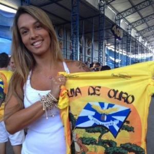 Milena Nogueira participa de feijoada da Águia de Ouro, em São Paulo (11/8/2012) - Divulgação