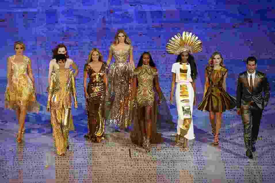 moda nas olimpiadas 2012 - encerramento 1 - AFP
