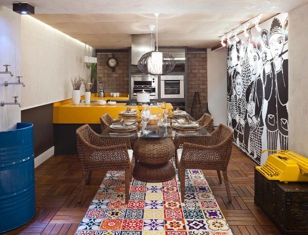Varanda Gourmet, da 6ª Morar Mais, projetada por Didacio e Flávia Dualibe em parceria com Rivany Farias - Haruo Mikami/Divulgação