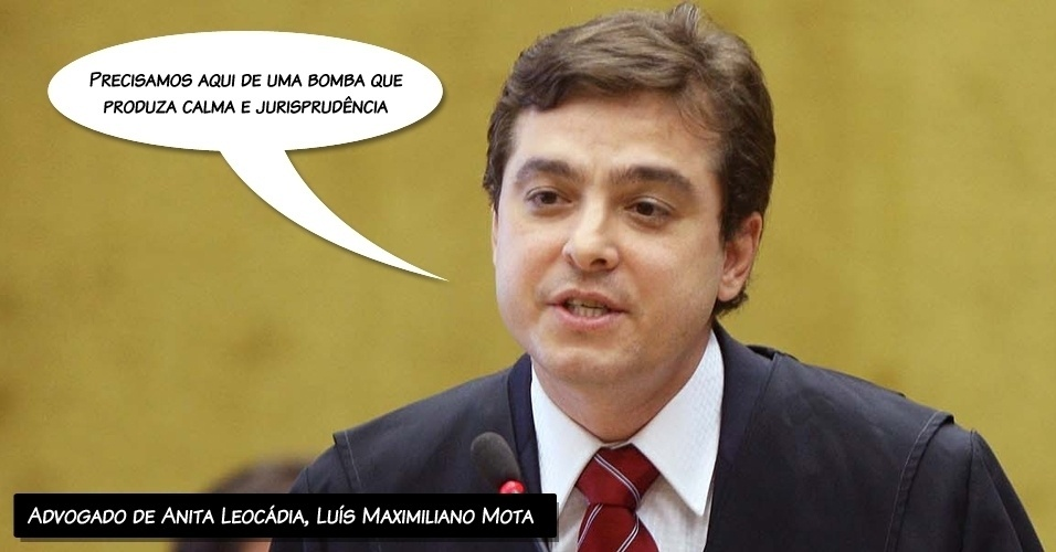 """14.ago.2012 - """"Precisamos aqui de uma bomba que produza calma e jurisprudência"""", pediu o advogado de Anita Leocádia, Luís Maximiliano Mota, aos ministros do STF"""