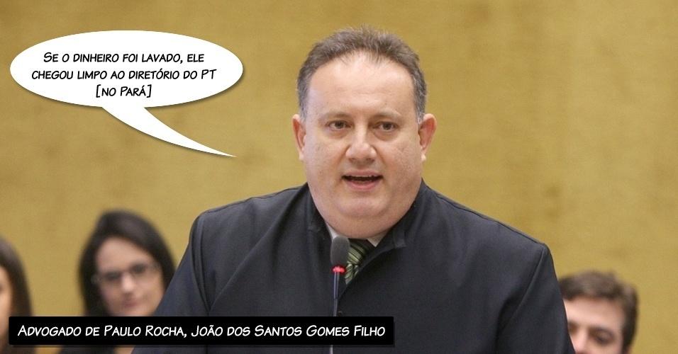 """14.ago.2012 - """"Se o dinheiro foi lavado, ele chegou limpo ao diretório do PT [no Pará]"""", afirmou o advogado do ex-deputado Paulo Rocha, João dos Santos Gomes Filho, negando que seu cliente tenha lavado dinheiro"""
