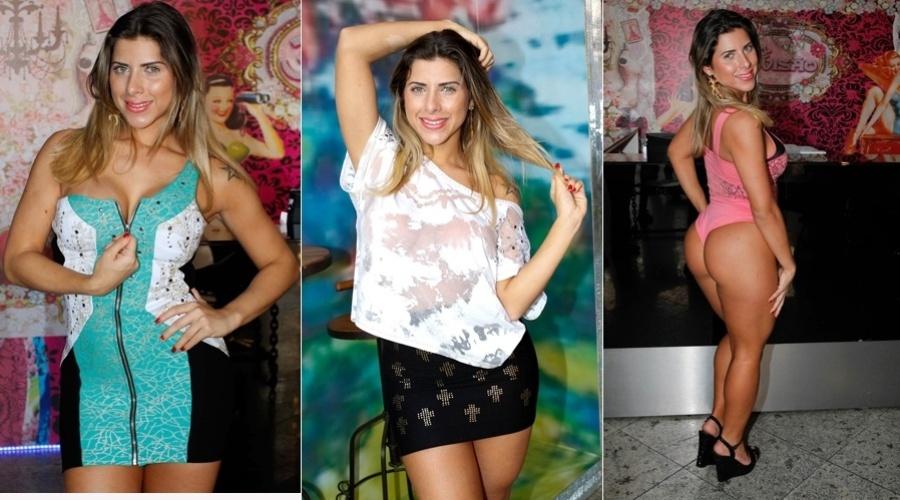 Ana Paula Minerato fez ensaio fotográfico dentro de uma loja de roupas em São Paulo (14/8/12)