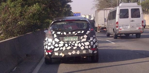 New Fiesta hatchback fabricado no Brasil, com placa de Tatuí (SP), circula em São Paulo - Claudio Magno/UOL