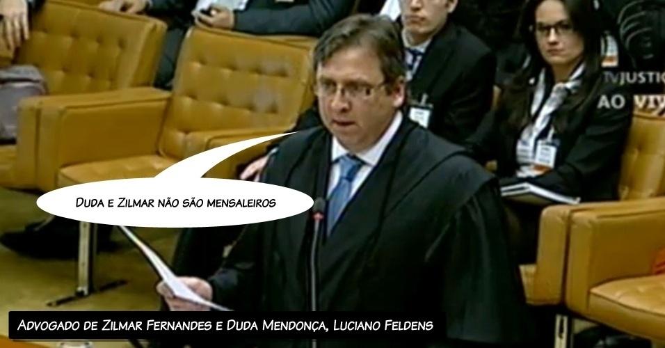 """15.ago.2012 - """"Duda e Zilmar não são mensaleiros"""", disse o advogado de Duda Mendonça e Zilmar Fernandes, Luciano Feldens"""