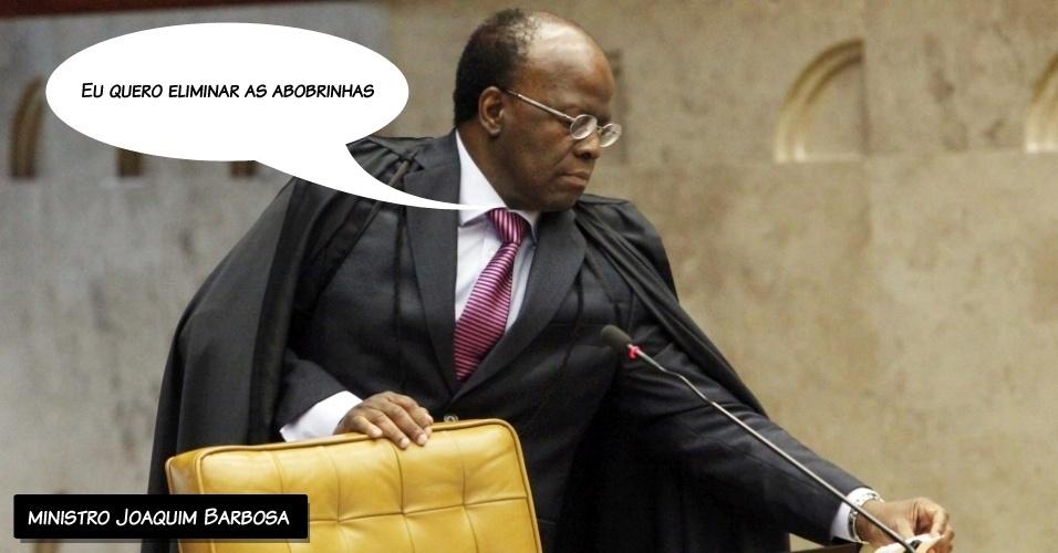 """15.ago.2012 - """"Eu quero eliminar as abobrinhas"""", disse o ministro Joaquim Barbosa se referindo às preliminares apresentadas pelas defesas dos réus do mensalão e que são alvo de votação dos ministros"""
