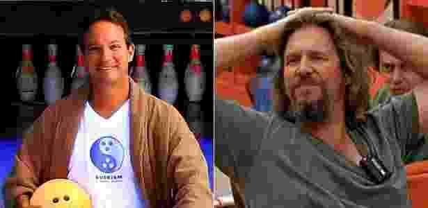 """À esquerda, Oliver Benjamin, fundador do """"Dudeism""""; à direita, Jeff Bridges como o """"Dude"""" de """"O Grande Lebowski"""" - Cortesia de Chiang Mai/Revista Citylife/Divulgação/Montagem"""
