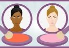 Aprenda aplicar o blush de acordo com o tom da pele e o formato do rosto - Arte UOL