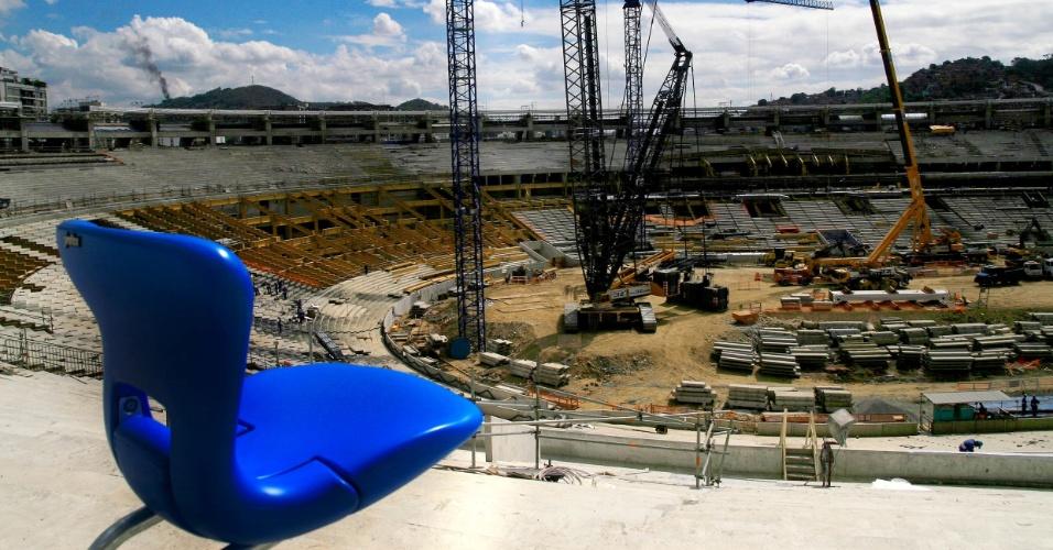 As novas cadeiras do Maracanã estarão expostas a partir de sexta-feira no estádio