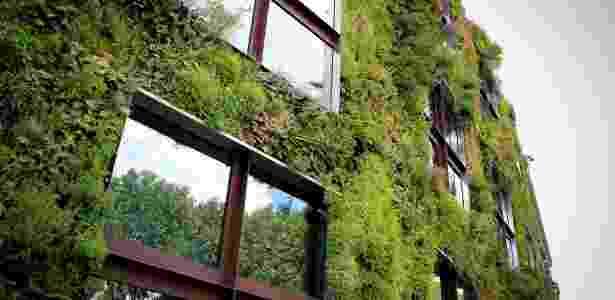 Jardim vertical, criado pelo francês Patrick Blanc, cobre parte da fachada do Musée du quai Branly, em Paris - Divulgação