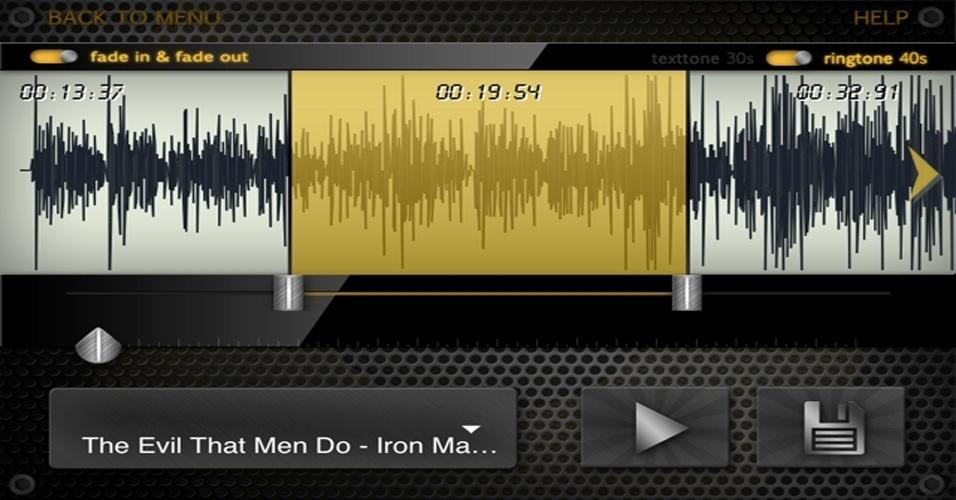 Transforme sons engraçados e músicas em ringtone para o iPhone ring.tones