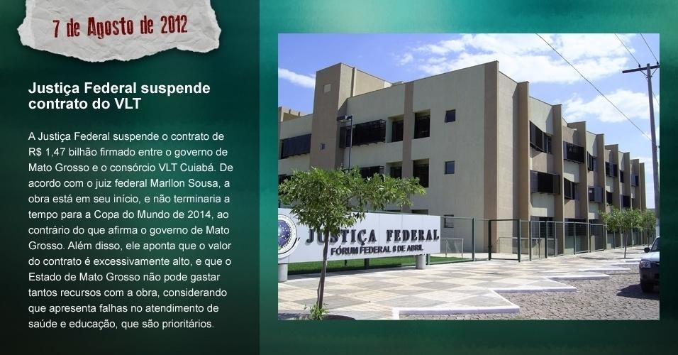 Justiça Federal suspende contrato do VLT: